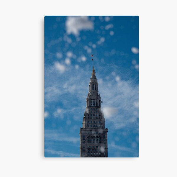 Terminal Tower in the snow Canvas Print