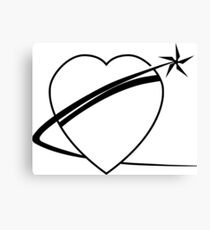 Black Heart Of Gold Logo Canvas Print