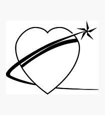 Black Heart Of Gold Logo Photographic Print