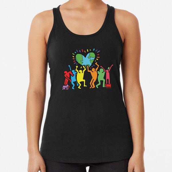 traje de camisa de rap de keith haring, mejor idea de regalo, diversidad Camiseta con espalda nadadora