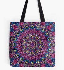 Paradise Sunset Mandala Tote Bag
