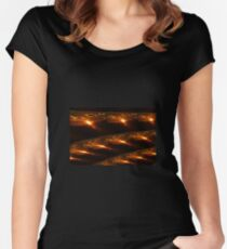 Partial Eclipse Fractal Women's Fitted Scoop T-Shirt
