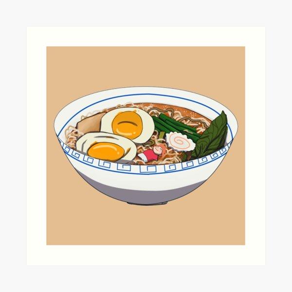 Anime ramen bowl Art Print