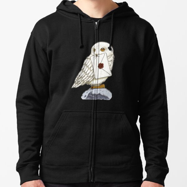 White Owl Zipped Hoodie
