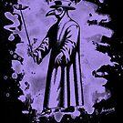 Doc beak - Plague doctor - bleached violet by Bela-Manson