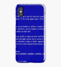 Blue Screen of Death iPhone Case/Skin