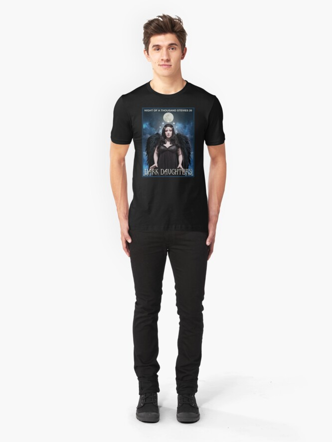Alternate view of Night of 1000 Stevies 26: Dark Daughters T Shirts Benefit Animals Slim Fit T-Shirt