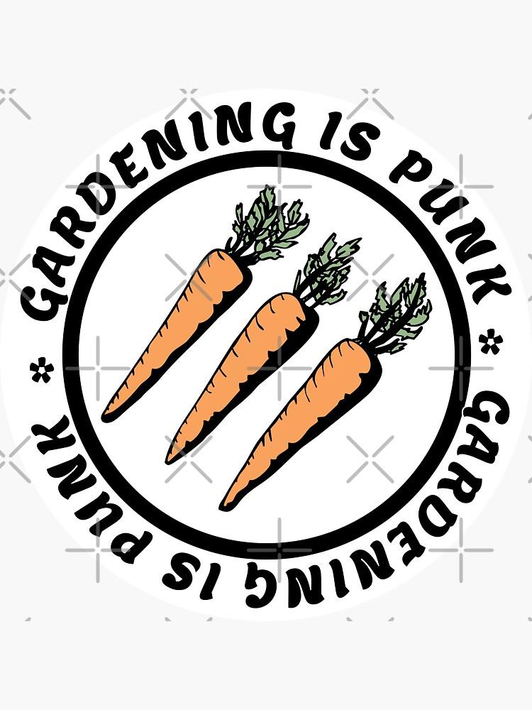 gardening is punk   antifascist 3 arrows   carrots by craftordiy