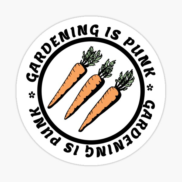 gardening is punk | antifascist 3 arrows | carrots Sticker