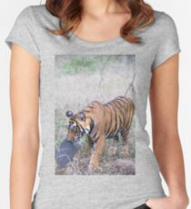 Young Bengal Tiger Prowling Women's Fitted Scoop T-Shirt