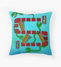 Eels and Escalators Throw Pillow