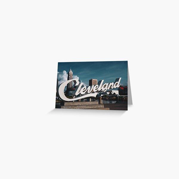 Cleveland Sign  Greeting Card