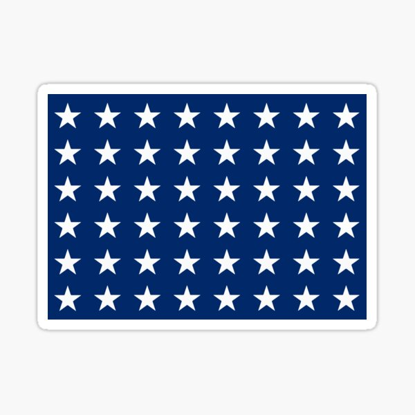 The Jack 48 (Naval jack of the United States, 1912 - 1959) Sticker