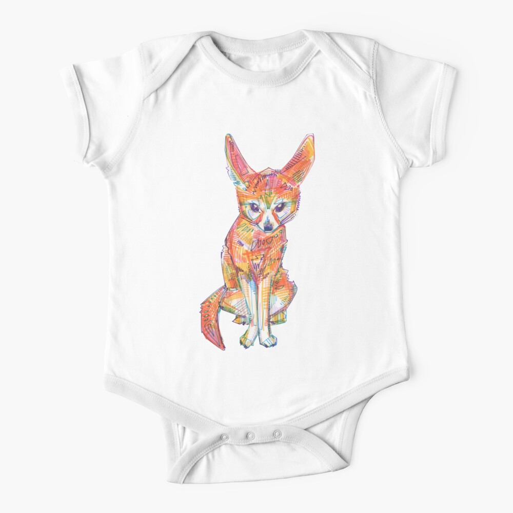 Fennec Fox Drawing - 2016 Baby One-Piece