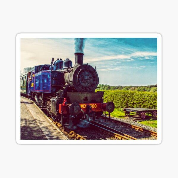 Steam train at Bodiam Station Sticker