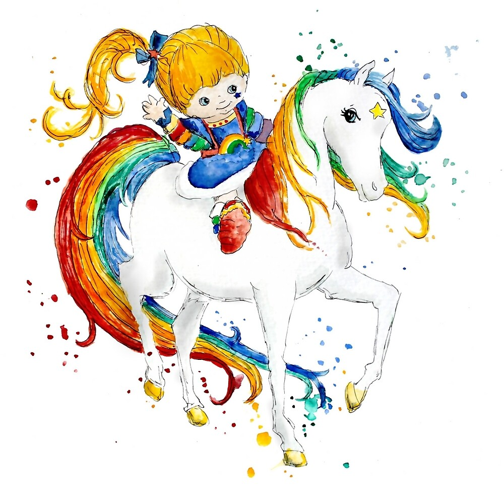Watercolor Rainbow Brite by FerntasticArt
