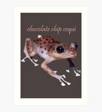 Chocolate Chip Coquí Art Print
