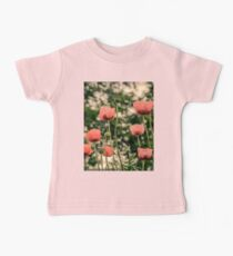 Pink Poppy in late everning light Kids Clothes