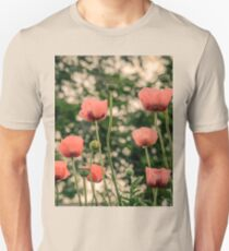 Pink Poppy in late everning light Unisex T-Shirt
