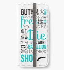 Mein Schuss - Hamilton iPhone Flip-Case/Hülle/Klebefolie