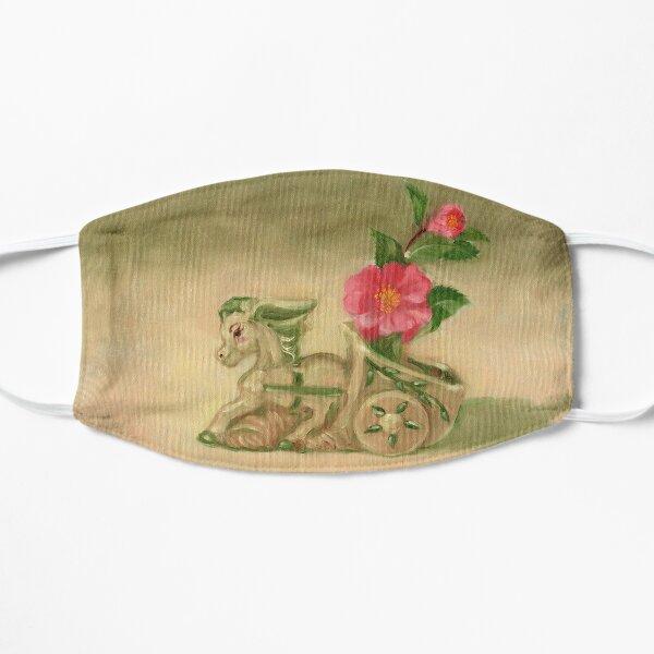 Donkey and Camellia Flat Mask