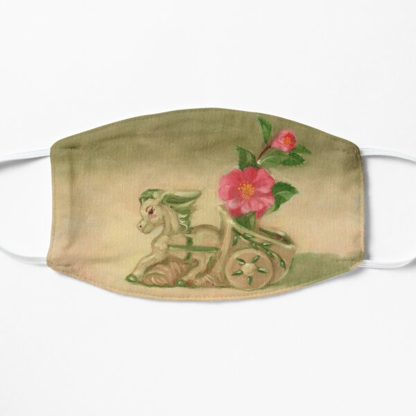 Donkey, Camellias and Shadow Flat Mask