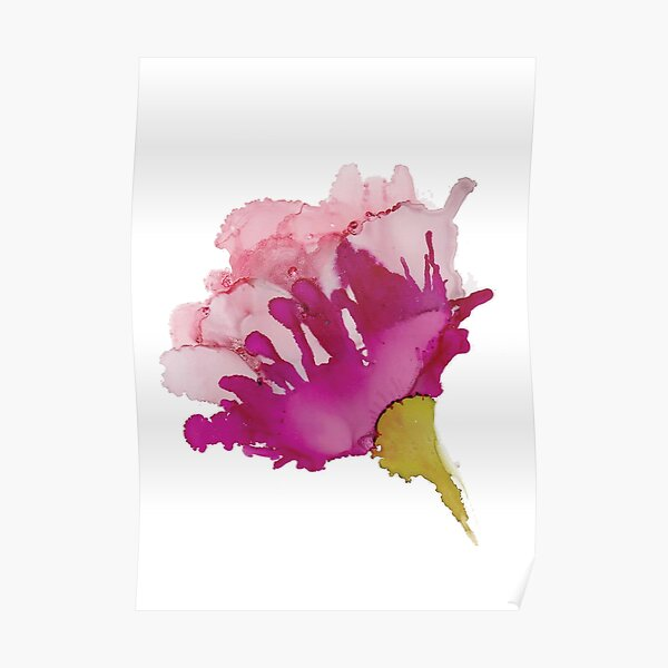 Pink Abstract Floral A Poster