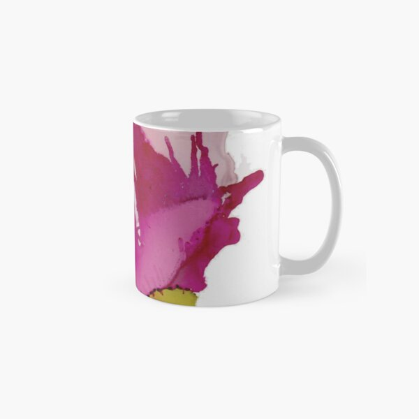 Pink Abstract Floral A Classic Mug