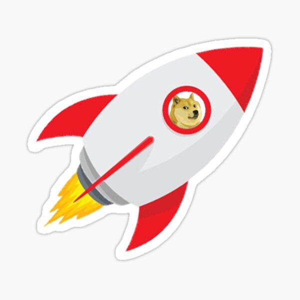 Dogecoin Rocket Sticker