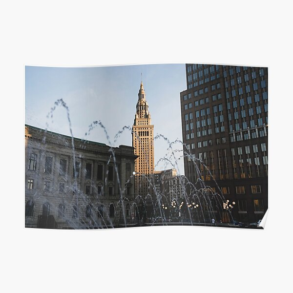 Terminal Tower - Downtown Cleveland Poster