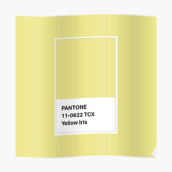 Pantone Colour 11-0622 TCX Yellow Iris Poster