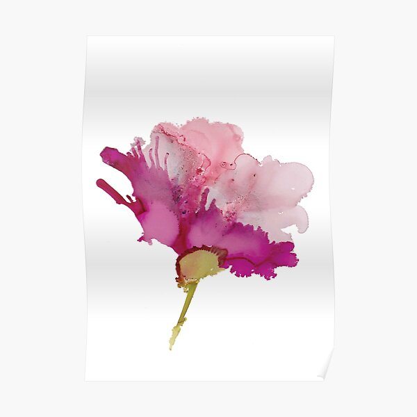 Pink Abstract Floral B Poster