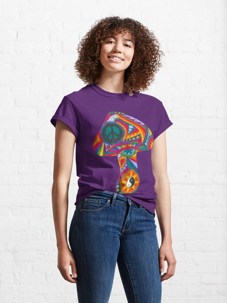 Alternate view of Psychedelic Mushroom Classic T-Shirt