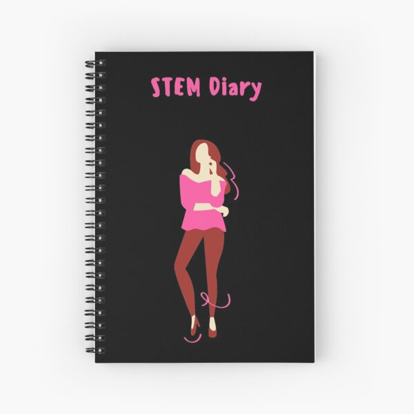 STEM Diary Girl (Black Background) Spiral Notebook