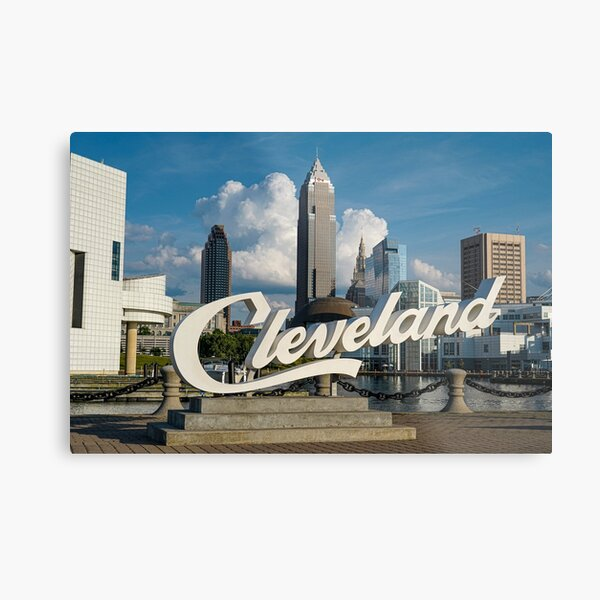 Cleveland Sign - North Coast Harbor Metal Print
