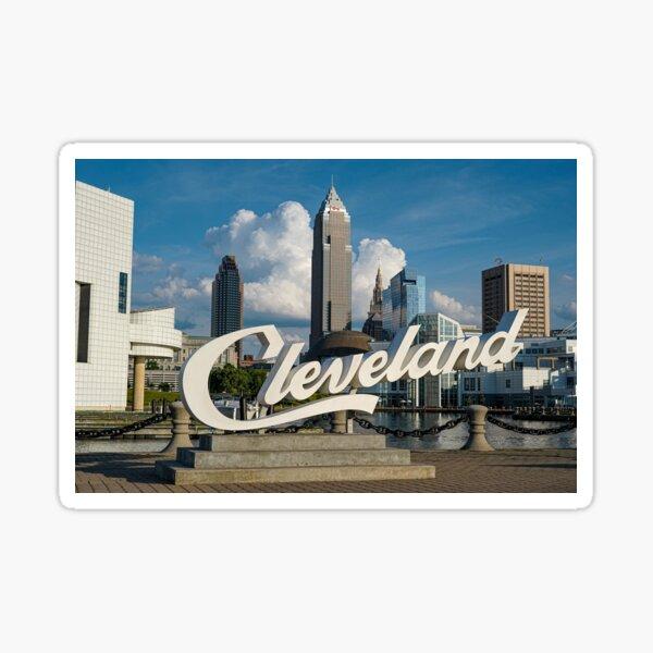Cleveland Sign - North Coast Harbor Sticker