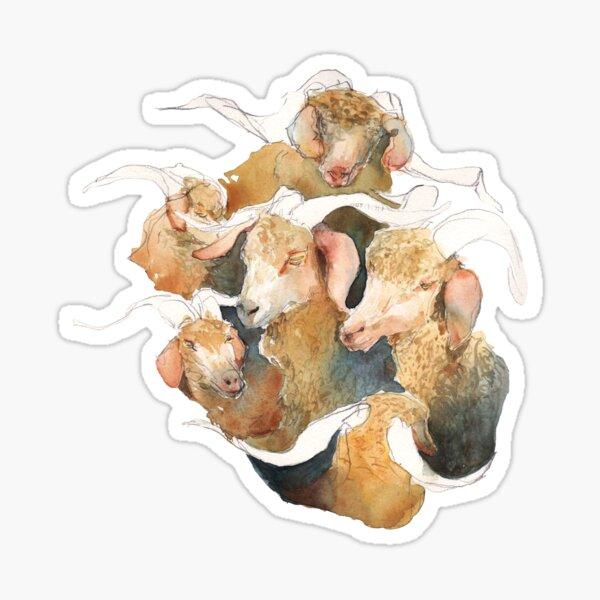 Gathering of Majestic Goats Sticker