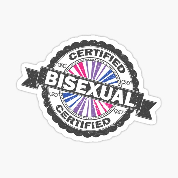 Certified Bisexual Stamp Sticker