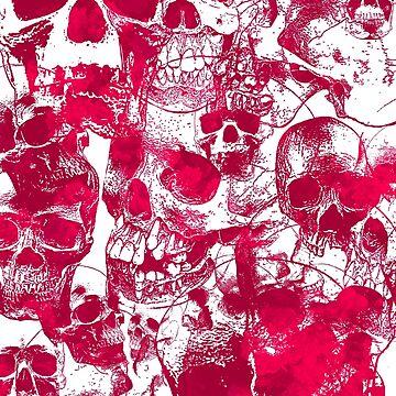 Pink Skulls by MrZafra