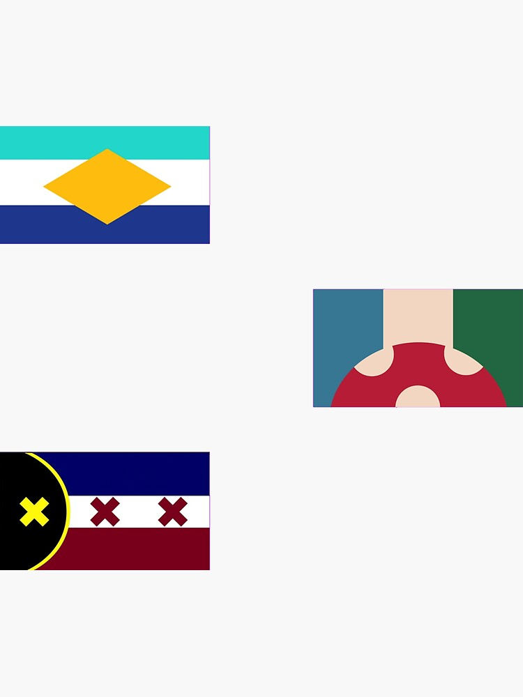 Showchester, L'manburg and Kinoko Kingdom flags from the DreamSMP by ayladesigns