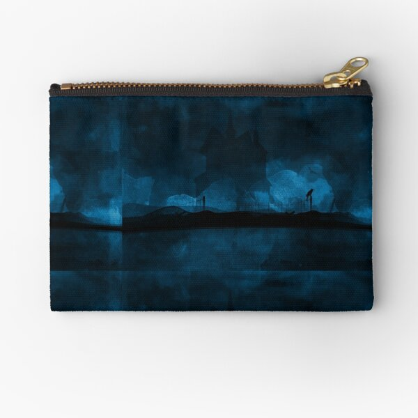 """Haunted"" - Blue Zipper Pouch"