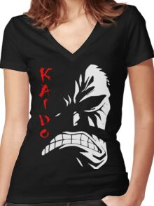 One Piece - Kaido Women's Fitted V-Neck T-Shirt