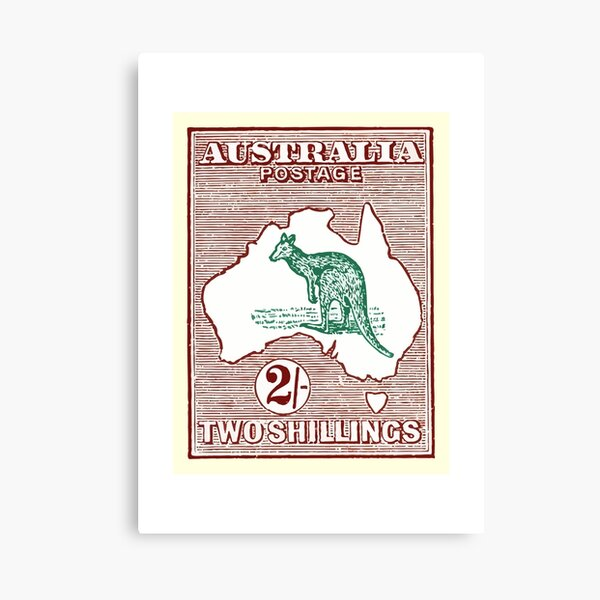 1915 AUSTRALIA Kangaroo Postage Stamp Canvas Print