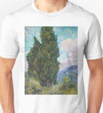 Vincent Van Gogh - Cypresses .  Van Gogh - Cypresses  Unisex T-Shirt