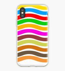 Wavy Stripes Love iPhone Case