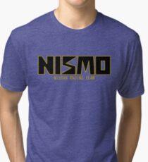 Classic Gold and Black NISMO Nissan Racing Team Logo Tri-blend T-Shirt