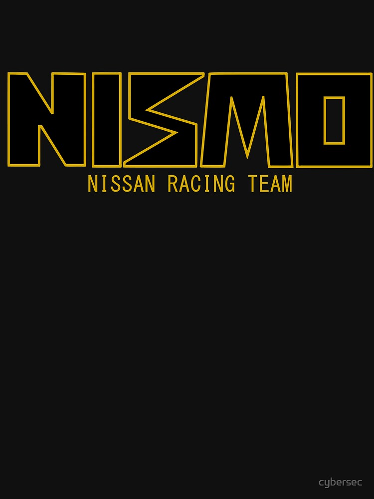 Classic Gold and Black NISMO Nissan Racing Team Logo | Unisex T-Shirt