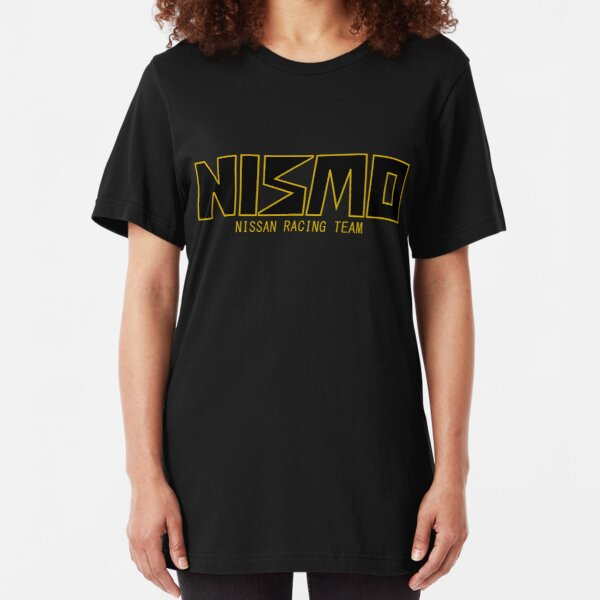 Classic Gold and Black NISMO Nissan Racing Team Logo Slim Fit T-Shirt