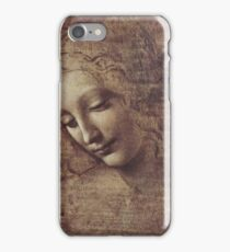 Leonardo Da Vinci - Head Of A Young Woman With Tousled Hair Or Leda iPhone Case/Skin