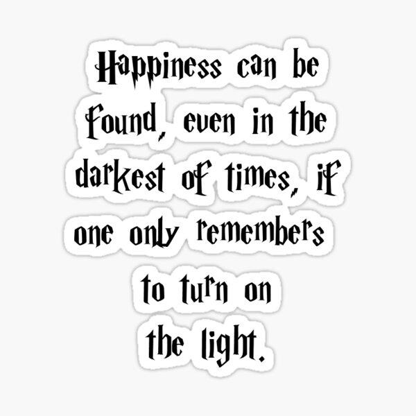 Le bonheur peut être trouvé Sticker